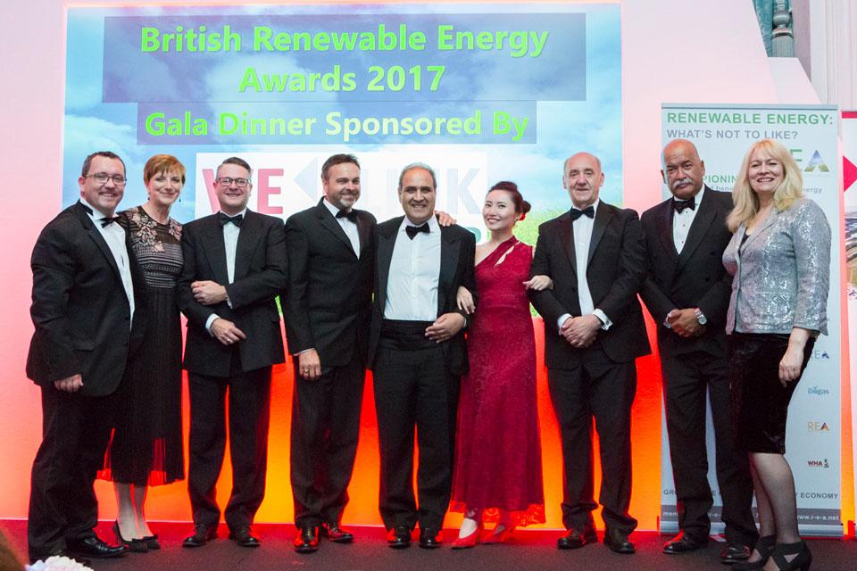WElink Headline Sponsors' British Renewable Energy Awards